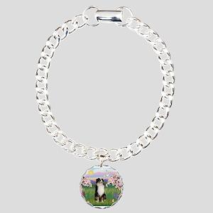 Blossoms & Aussie (#2) Charm Bracelet, One Charm