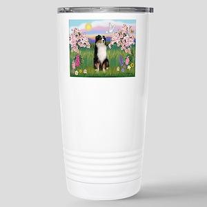 Blossoms & Aussie (#2) Stainless Steel Travel Mug