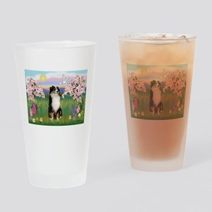 Blossoms & Aussie (#2) Drinking Glass