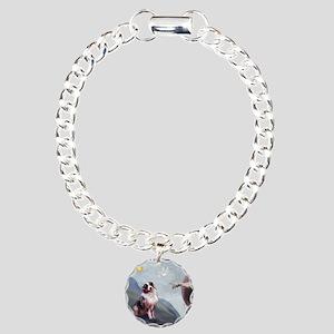Creation / Australian Shepher Charm Bracelet, One