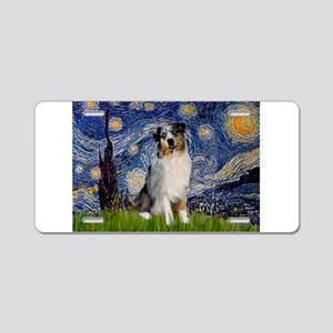 Starry Night Aussie #3 Aluminum License Plate