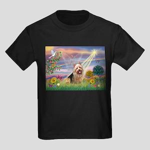 Cloud Angel Aussie Terrier Kids Dark T-Shirt