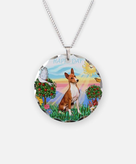 Happy Day Basenji Necklace