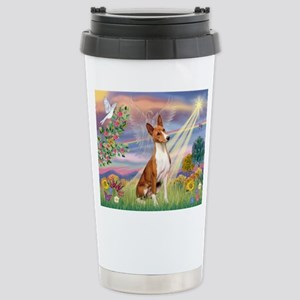 Cloud Angel & Basenji Stainless Steel Travel Mug