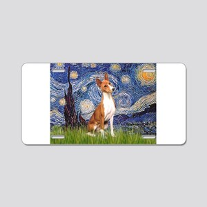 Starry Night & Basenji Aluminum License Plate