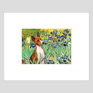 Basenji in Irises Small Poster