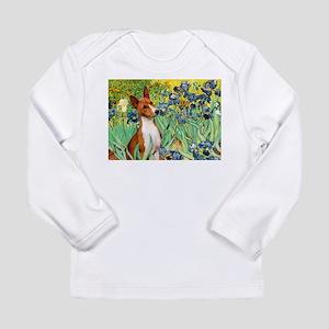 Basenji in Irises Long Sleeve Infant T-Shirt