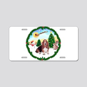 Take Off1/Basset Hound Aluminum License Plate
