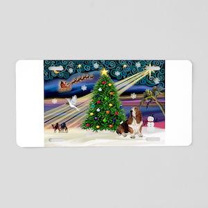 Xmas Magic - Basset Aluminum License Plate