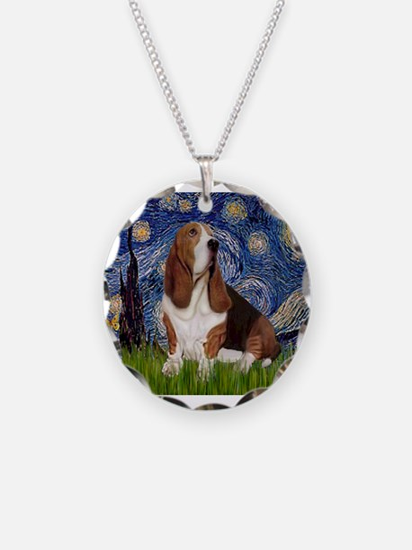 Starry Night Basset Necklace