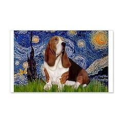 Starry Night Basset 22x14 Wall Peel