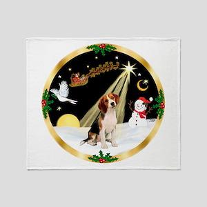 Night Flight/Beagle Throw Blanket