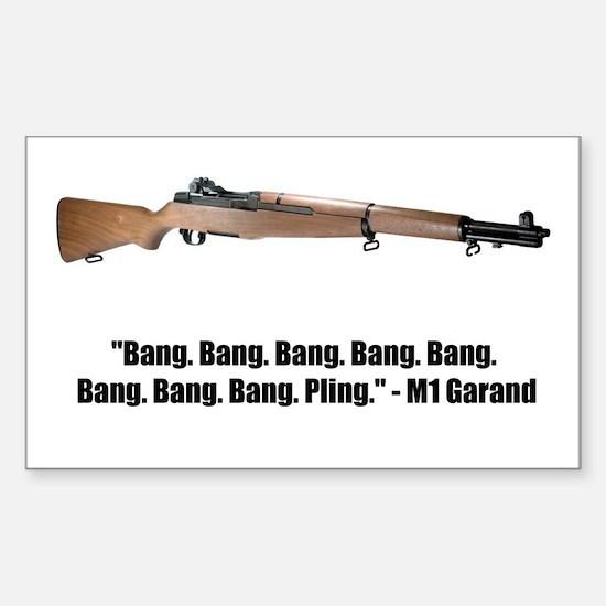 M1 Garand Sticker (Rectangle)