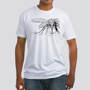 Biting Mosquito Fitted T-Shirt