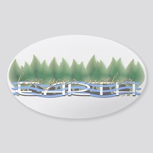 Love Your Mother Earth Sticker (Oval)