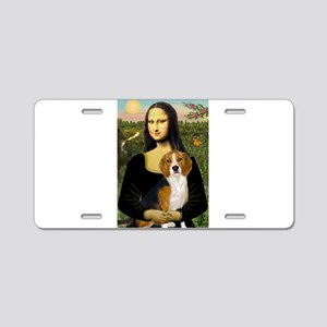 Mona Lisa & Beagle Aluminum License Plate