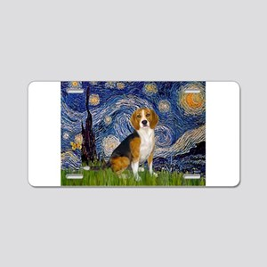 Starry Night & Beagle Aluminum License Plate