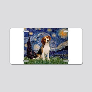 Starry Night & Beagle Pup Aluminum License Pla