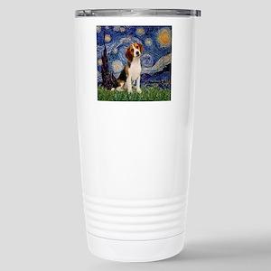 Starry Night & Beagle Pup Stainless Steel Trav