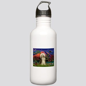 Mt Fuji / Bearded Collie Stainless Water Bottle 1.