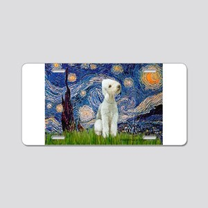 Starry Night Bedlington Aluminum License Plate