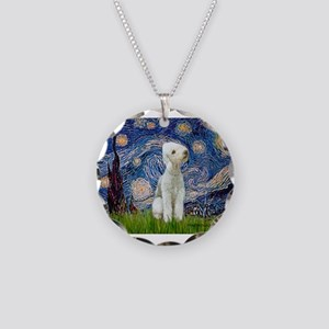Starry Night Bedlington Necklace Circle Charm