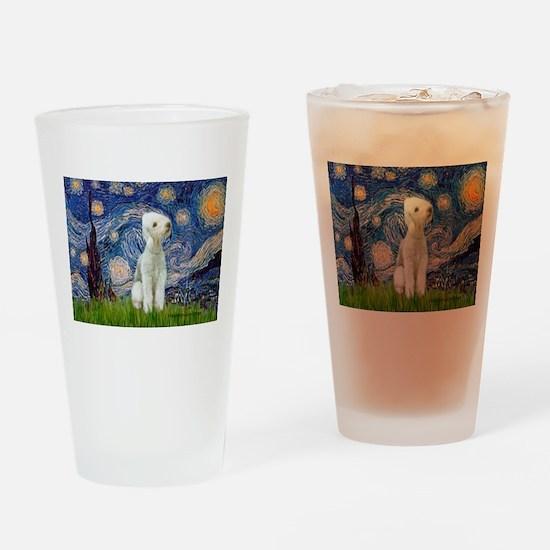 Starry Night Bedlington Drinking Glass