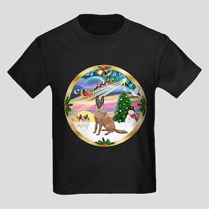 XmasMagic/Malanois Kids Dark T-Shirt