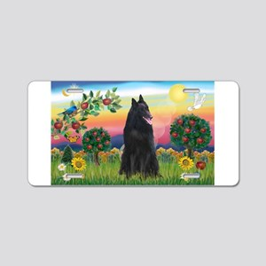 Bright Country & Belgian Shepherd Aluminum License