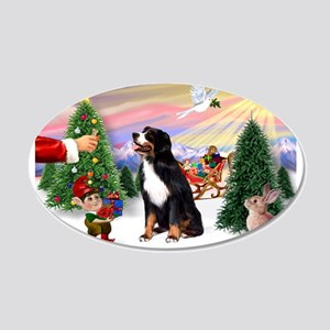 Treat for Bernese Mt Dog 20x12 Oval Wall Decal