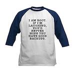 I am root Kids Baseball Jersey