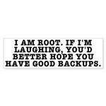 I am root Sticker (Bumper 50 pk)