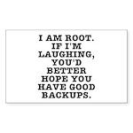 I am root Sticker (Rectangle 50 pk)