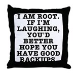 I am root Throw Pillow