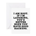 I am root Greeting Card