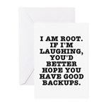 I am root Greeting Cards (Pk of 10)