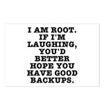 I am root Postcards (Package of 8)