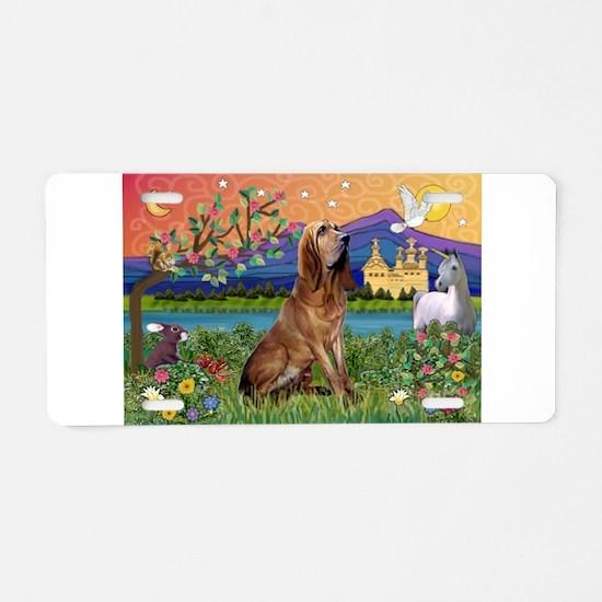 Bloodhound Fantasy Aluminum License Plate