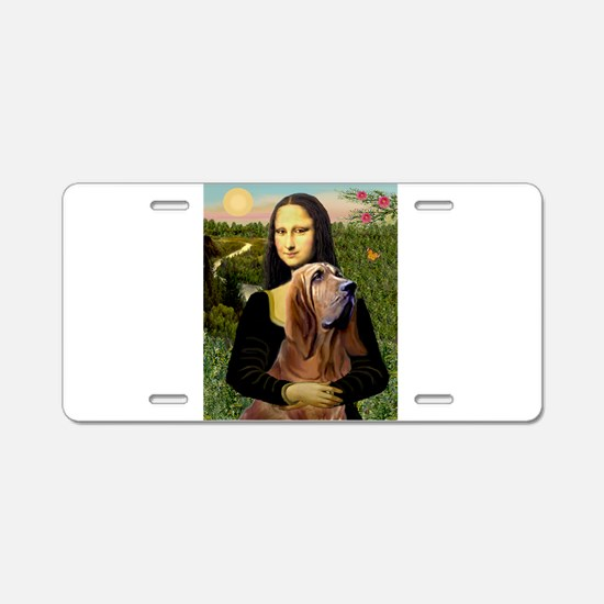 Mona & her Bloodhound Aluminum License Plate