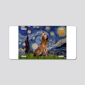 Starry Night Bloodhound Aluminum License Plate