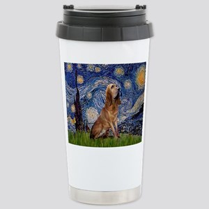 Starry Night Bloodhound Stainless Steel Travel Mug