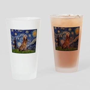 Starry Night Bloodhound Drinking Glass