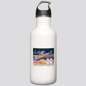 Xmas Star/2 Bichons Stainless Water Bottle 1.0L