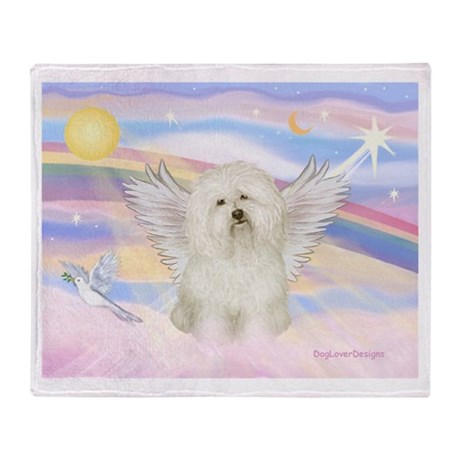 Bolognese Angel Throw Blanket