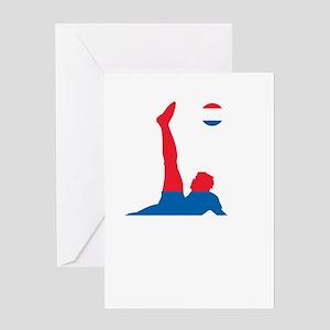 Serbia Soccer Greeting Card