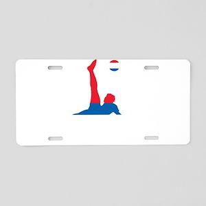 Serbia Soccer Aluminum License Plate
