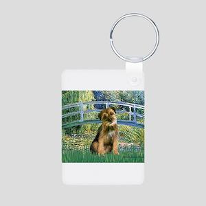Bridge / Border Terrier Aluminum Photo Keychain