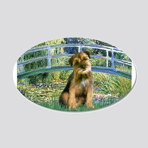 Bridge / Border Terrier 22x14 Oval Wall Peel