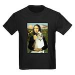 Mona & her Borzoi Kids Dark T-Shirt