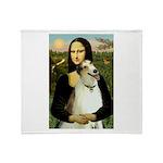 Mona & her Borzoi Throw Blanket